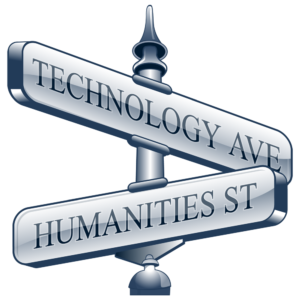 Innovation: Intersection of technology and humanities Blog logo.